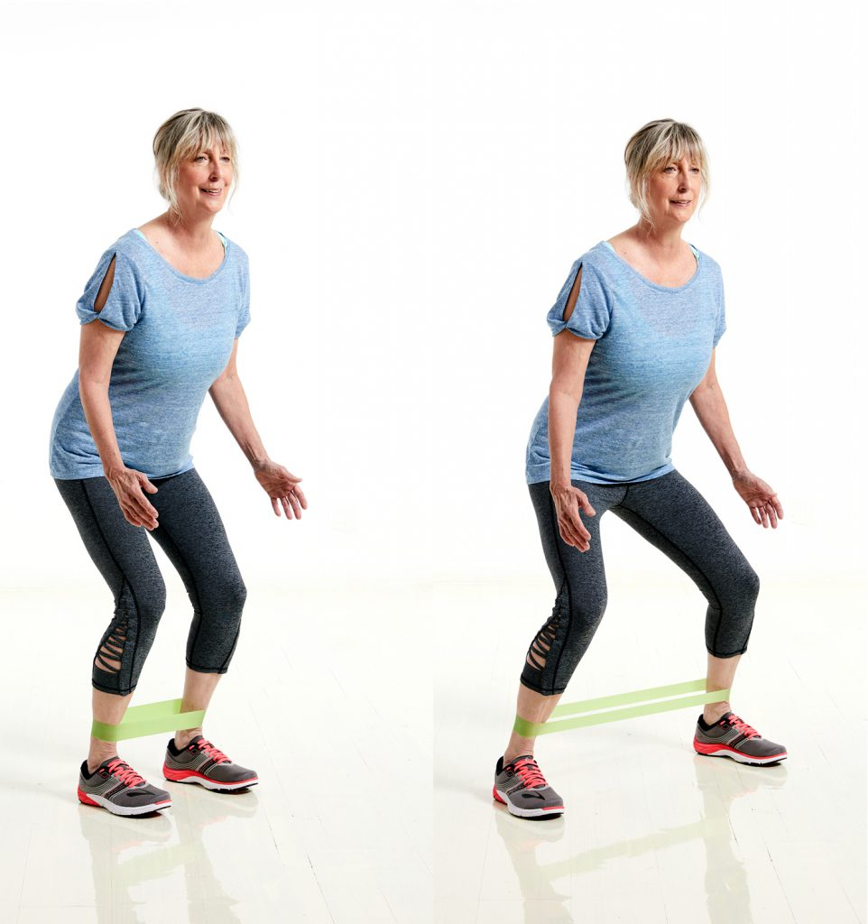 resistance band side step