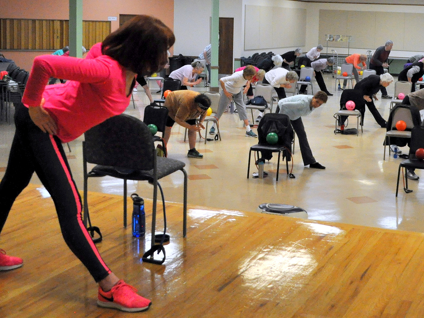 SilverSneakers 2018 Instructor of the Year Margaret Agnew Teaching a Group Fitness Class