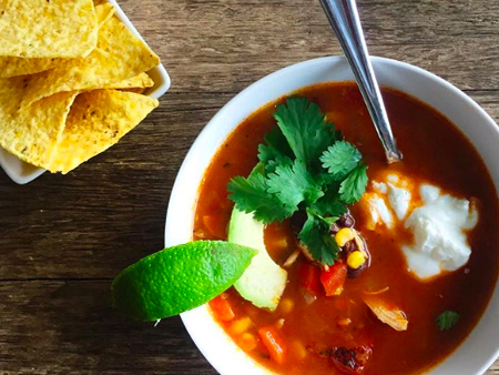 One-Dish Chicken Tortilla Soup