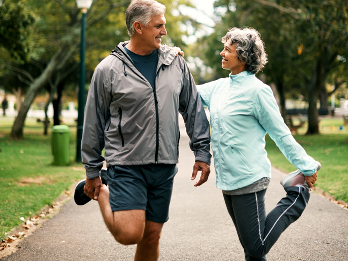 older adults running