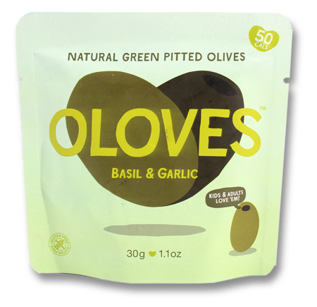 Oloves Basil and Garlic Pitted Olives
